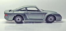 Porsche 959 (Burago) Model Car by Testors - Silver Teal - 1:24 - VINTAGE