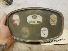 Vintage gauge cluster speedometer oil fuel gasoline temperature amps 1930 1929