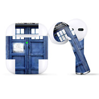 Skins Wraps compatible for Apple Airpods  Phone booth, Tardis call box
