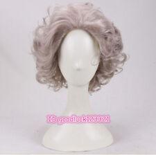 Madea / Joe cosplay wig short curly grandma gray hair wigs Halloween +a wig cap