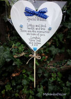 Memorial heart-Special Dad/ Special Mum Grave Ornament- 15cm-Fathers Day