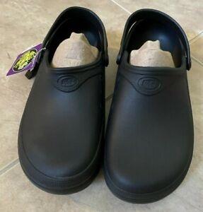 Shoes For Crews Froggz Slip On Black Clog Slip & Oil Resistant Unisex M8 W10 NEW