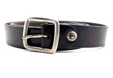 Vintage Handmade Real Leather Belt Brown Size 36