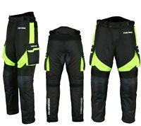 Motorradhose wasserdichte Textilhose GRÜN Protektoren/Taschen Gr. XS - 6XL