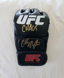 Colby Covington Signed Glove Champion MMA *PROOF Dana White ESPN Chaos Chaos