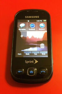 Samsung Seek SPH-M350 Black Sprint Slider Phone Cell Phone w/ QWERTY Keyboard
