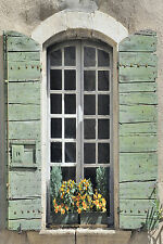 STUNNING French Provence Shutters Canvas #342 Quality Picture Wall Art A1