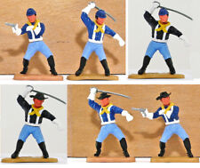 Six (6) Timpo Last Series 7th Cavalrymen with rare poses - legs may vary