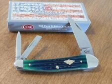 CASE XX New Hunter Green Jigged Bone 3 Blade Seahorse Whittler Knife/Knives