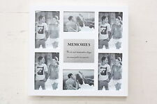 High Class Wooden 6 in 1 Multi Photo Frame - 'Memories' -White or Black -On Sale