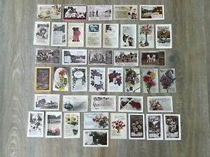 ATTRACTIVE BARGAIN LOT OF EARLY GREETINGS POSTCARDS x40