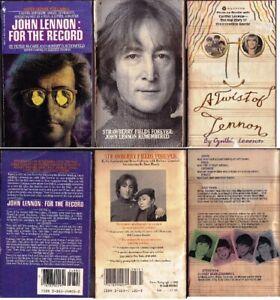 JOHN LENNON BEATLES PAPERBACK 3 BOOK LOT FAIR SHAPE