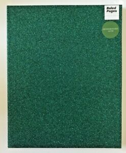 Paperchase Large 8 x 10 Green Glitter Soft Cover Ruled Notepad Notebook Journal