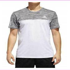 adidas Men Cv6047hb ESS Tech Tee Color White/black/col Heather Size XX Large