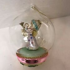 Precious Moments Globe Christmas Ornaments Globe Angel Blowing Horn