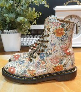 DR MARTENS - Made In England - Vintage Floral Boots Size UK 4