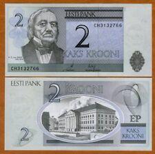 Estonia, 2 Krooni, 2006, P-85a, UNC > Pre-Euro