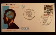 MONACO PREMIER JOUR FDC YVERT  1626      EUROPE , SATELLITE       2,20F     1988