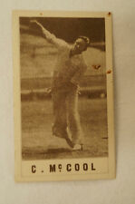 1940's Vintage G.J.Coles Cricket Card -  C. McCool - Queensland.