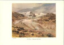 Stampa antica montagna GHIACCIAIO dei FORNI Valfurva Valtellina Sondrio 1934