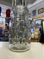 Vintage Atlas E-Z Seal Qt Canning Jar w/Glass Lid  B Clear
