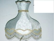 "22"" Scallop Silk Lamp Shade - Beige/Ivory -"
