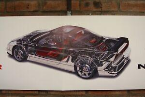 Honda NSX R    large pvc  WORK SHOP BANNER garage