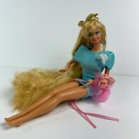 Vintage 80's Prom Barbie Long Blonde Hair Corsage Mattel 1979 1966 Stamps