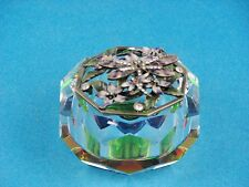 Bejeweled Trinket Box - Dragonfly Lid on a Crystal Box