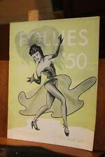 Vintage 1950 Oak Ridge Tn Jaycees Follies '50 October 13 14 Pin Up program