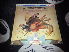 Claude Bolling Concerto For Classic Guitar and Jazz Piano Laserdisc Free Ship$30
