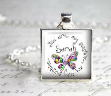 Personalized You Are My Sunshine Pendant Charm or Key Chain Custom Add A Name