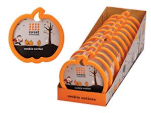 Lot 12 Count Pumpkin Shaped Cookie Dough Cutter Halloween Cake Press Cut Out pc