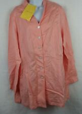QVC Exclusive Linea by Louis Dell'Olio Linen/Rayon Shirt blouse Size Large NWT