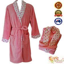 Womens Supersoft Luxury Coral Fleece Bath Robe Bathrobe Dressing Gown