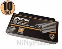 """Lot of 10 New Boxes Stanley-Bostitch B8 Staples 1/4"""" 5000 per box , 50,000 total"""