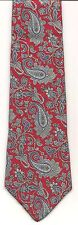 Tie MH, Red SURREY SOPHISTICATES Large PAISLEYS Gray Red Black Cream SILK USA