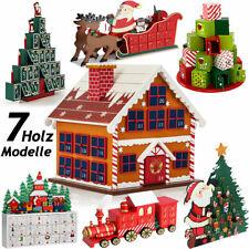 Adventskalender X-Mas zum Befüllen DIY Kalender Holz Weihnachtsdeko Kinder