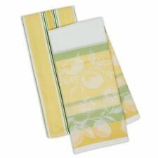 Design Imports RIVIERA LEMONS Cotton Dishtowels. 2 Piece Set.