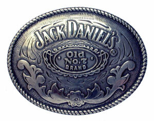 Jack Daniels Rodeo Oval Belt Buckle