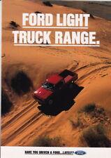 1993 FORD LIGHT TRUCK RANGE Australian 6p Brochure XG FALCON COURIER MAVERICK