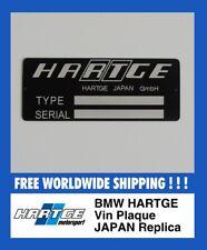 BMW Hartge JAPAN VIN Plaque Replica Project Restoration retrofit E30 E32 E34 E24