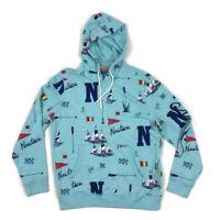 Nautica Mens Sweatshirt Hoodie Pullover Sail Boat Anchor Blue Large