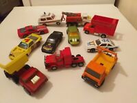 JOB LOT/Bundle Matchbox and Corgi vintage diecast cars.