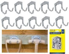 10 x Double Arm Tool Storage Hooks Garden Workshop Garage Shed Tools Tidy Hook