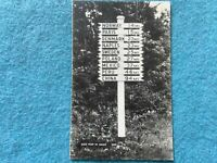 A Sign Post in Maine Vintage Postcard