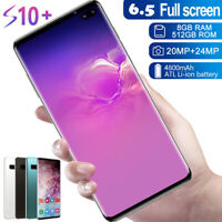 "6.5"" Unlocked Android 10.0Smart Phones 8GB+512GB Dual SIM Mobile 4G Deca Core"