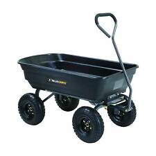 Gorilla Carts Poly Garden Dump Cart with Steel Frame and Pneumatic Tires, 600...