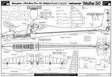 Graupner Weihe 50 piani R/C Aliante