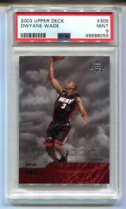2003 Upper Deck Dwayne Wade Star Rookie #305 PSA 9 MINT HEAT